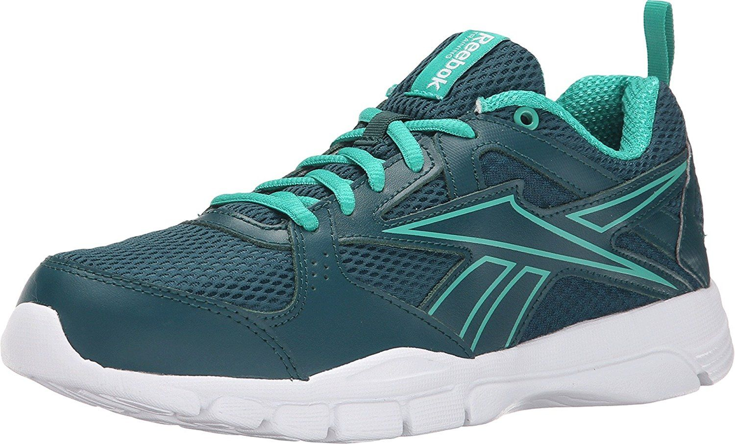 Womens Shoes Reebok Trainfusion 5.0 L MT Deep Teal/Glass Green/White