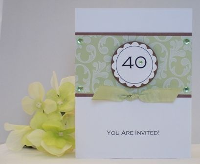 Make Simple And Pretty Handmade Birthday Party Invitations Use A Circle Punch To Create