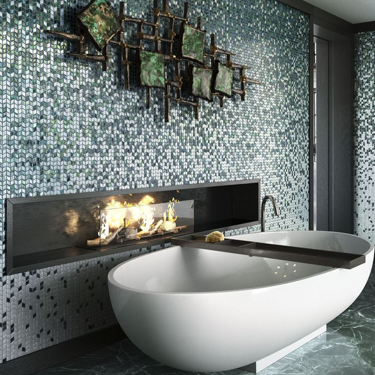 Mosaic Wall And Design Elements Even The Space Of Relax