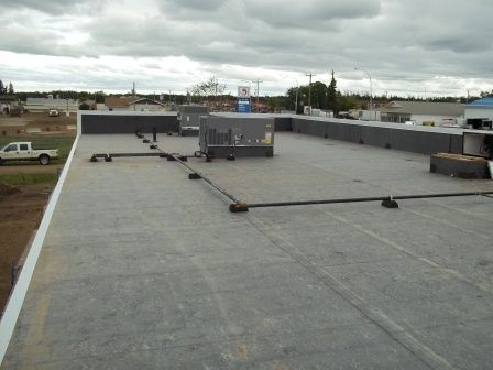 Epdm Roof Commercial Roofing Flat Roofing Epdm Roofing General Roofing Systems Canada Grs Commercial Flat Roof Epdm Roofing Commercial Roofing