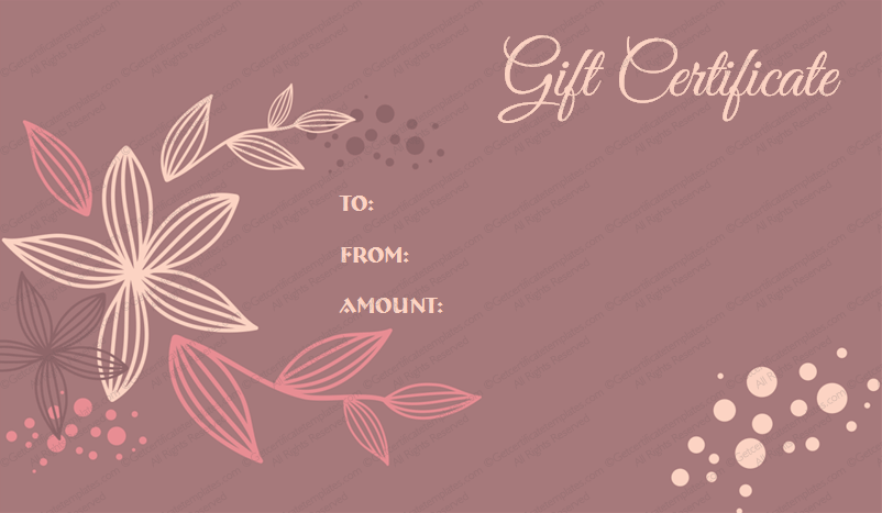 Giftcertificate samplegiftcertificate giftvoucher flowers gift flora gift certificate template get certificate templates get certificate templates yadclub Image collections