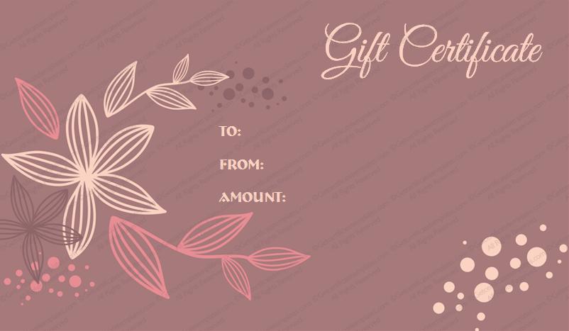 Sample birthday gift certificate template free printable giftvoucher giftcard freegiftcard swirls gift certificate yadclub Choice Image