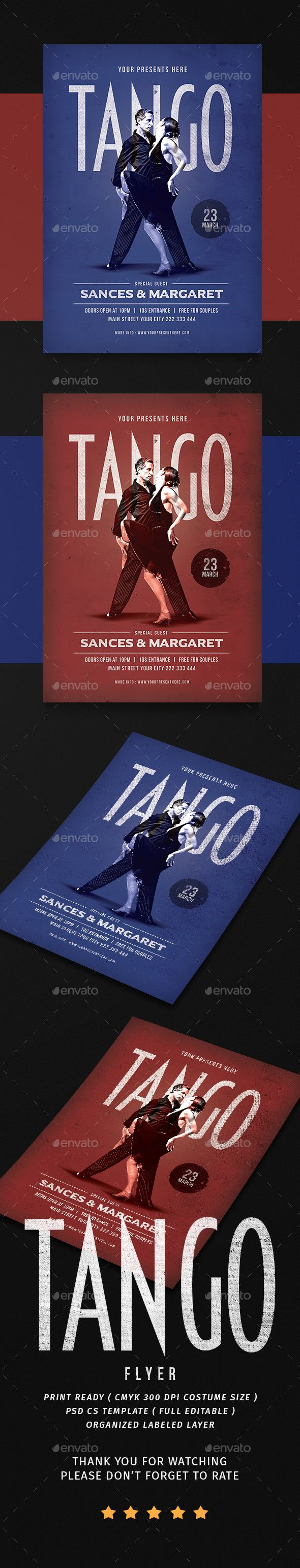 Tango Dance Flyer  Event Flyers Tango And Dancing