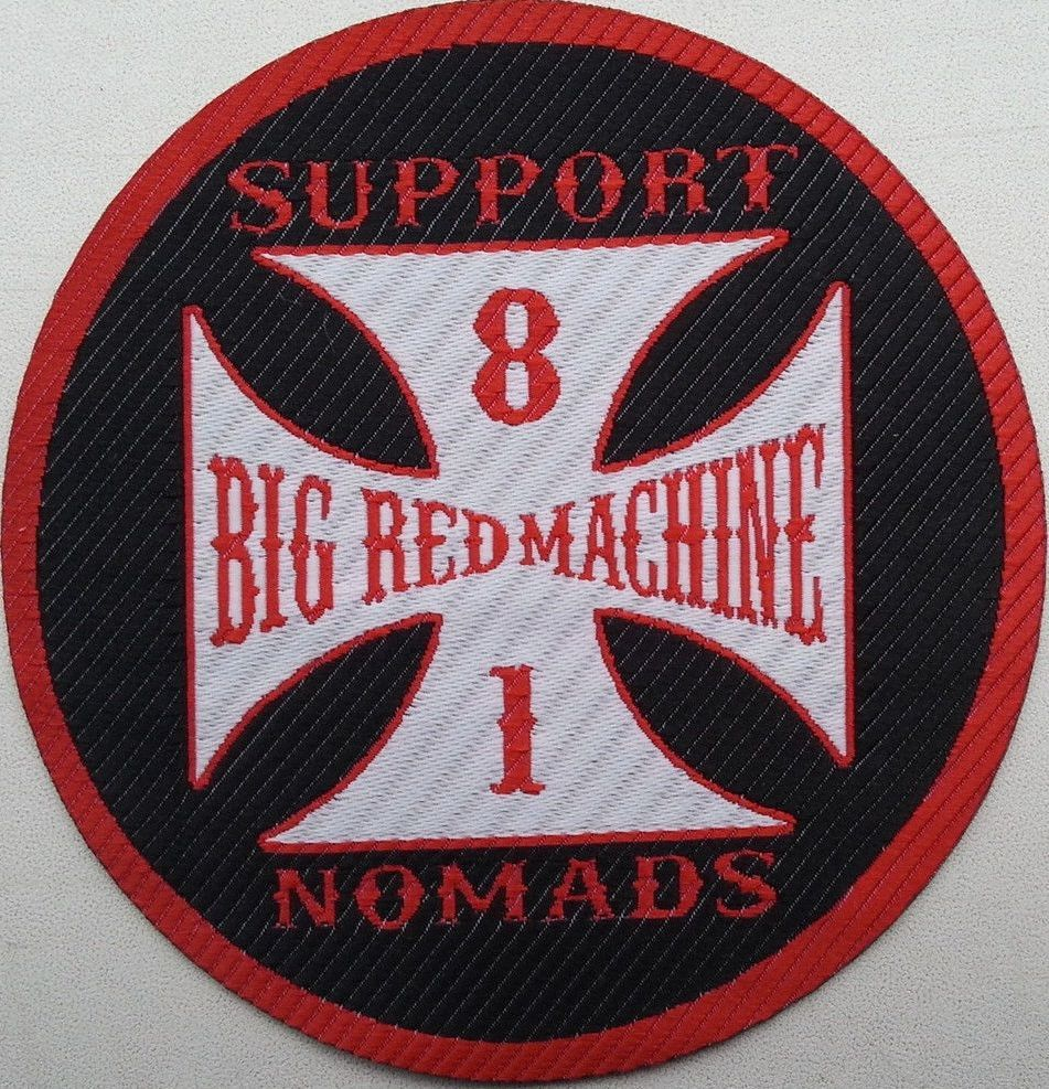 Woven Patch MOTORCYCLE GANG Angels / HELLS Support 81 Nomads