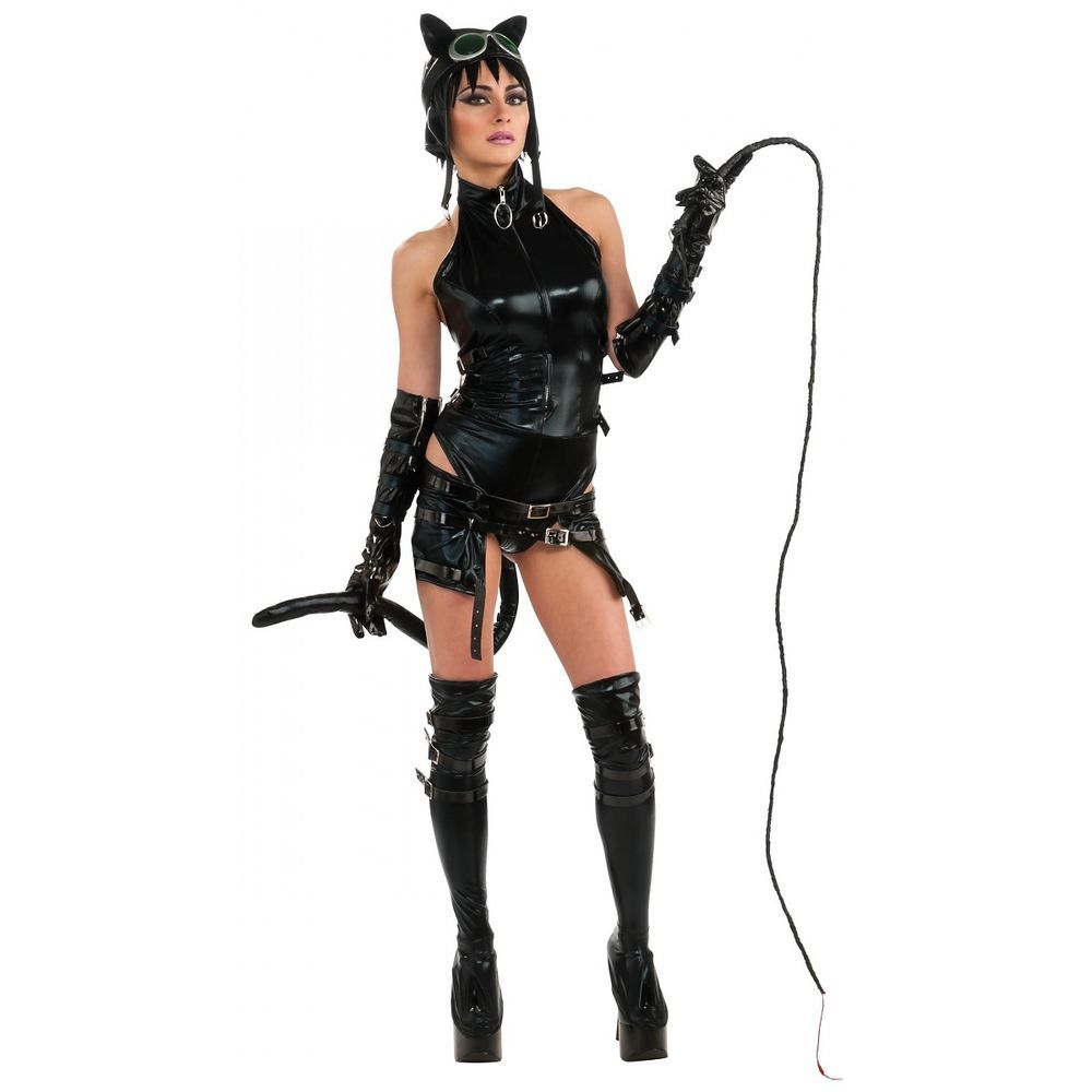 Anime Catwoman Costume Adult Sexy Cat Woman Gothic Cosplay ...