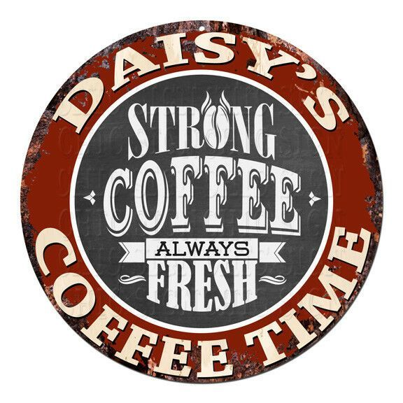 CWCT0295 DAISYS COFFEE TIME Chic Tin Sign Decor Gift Ideas  Coffee Décor  Ideas of Coffee Décor  CWCT0295 DAISYS COFFEE TIME Chic Tin Sign Decor Gift Ideas...