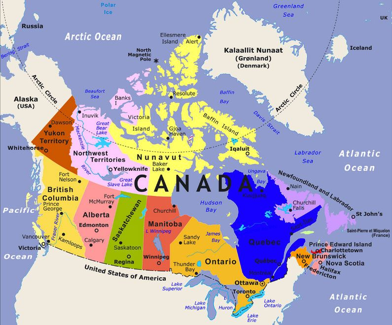 Canada And Russia Map News from Canada, Thailand and Russia | Canada map, Canada tourist