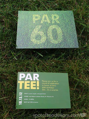 Jim S 60th Par Tee Golf Birthdays And Golf Party