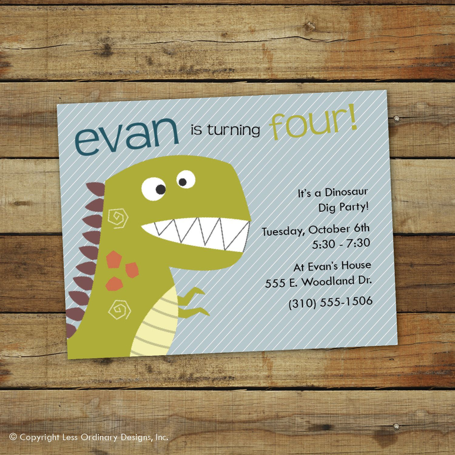 Tremendous Cute Dinosaur Party Invitations Birthday Party Invitation