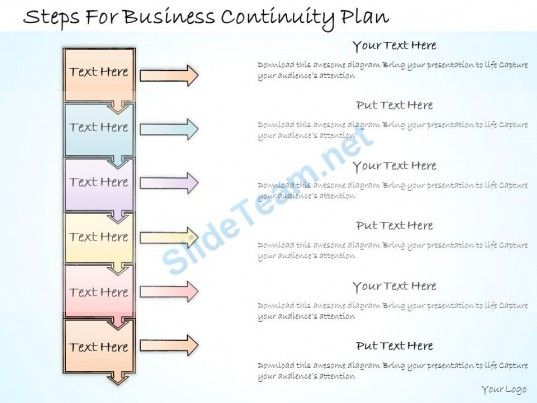 Business Ppt Diagram Steps For Business Continuity Plan