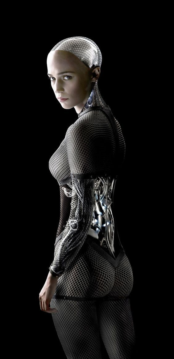 Not a fan of the movie, 'Ex Machina,' but when the heroine is wearing an iconic fishnet bodystocking, I knew a pic had to grace the Pinterest board. Would enjoy knowing how she fixes tears in the material.