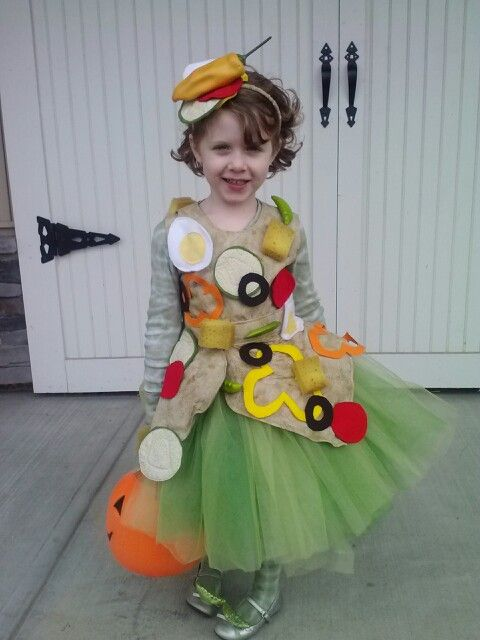 My Friends Daughter S Salad Costume Home Made