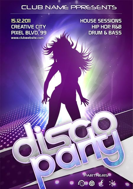 Party Flyer Template for Photoshop DMA Inspired Free psd flyer
