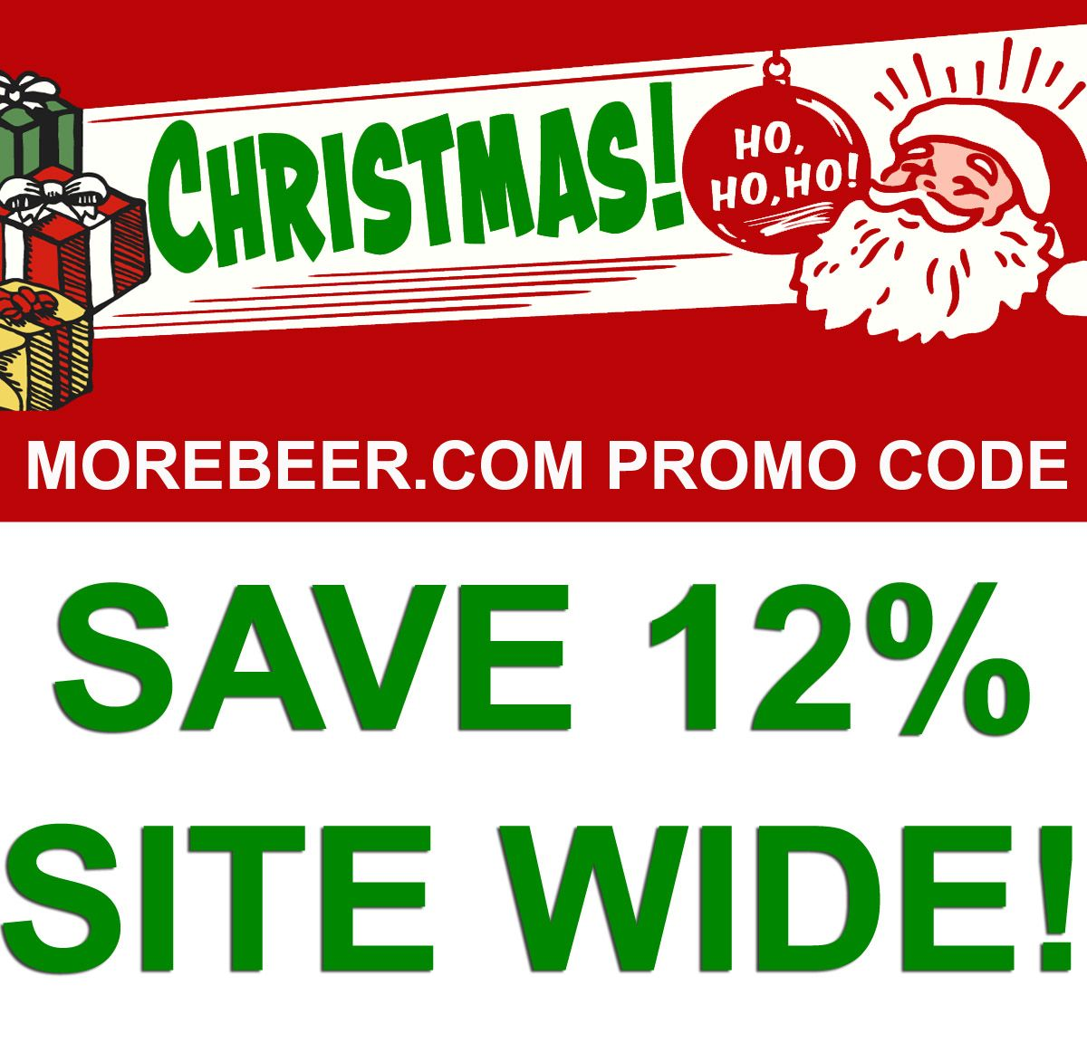 Save 12 Site Wide At Morebeer Com With Promo Code Holiday Promotions Promo Codes Beer Promotion