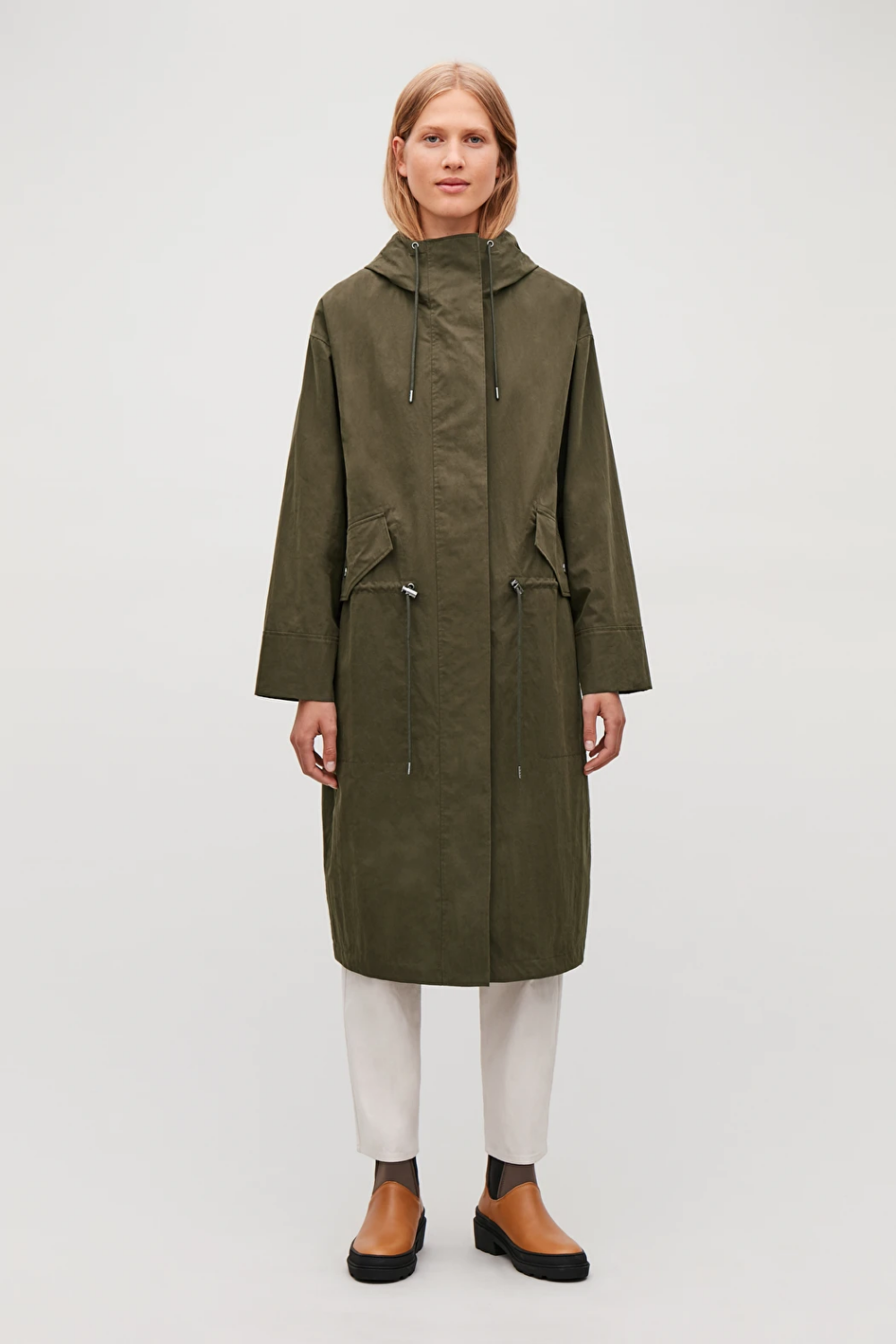 Long Hooded Parka Coat
