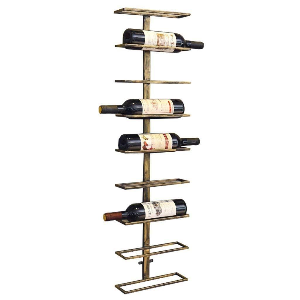 wall mounted wine rack metal