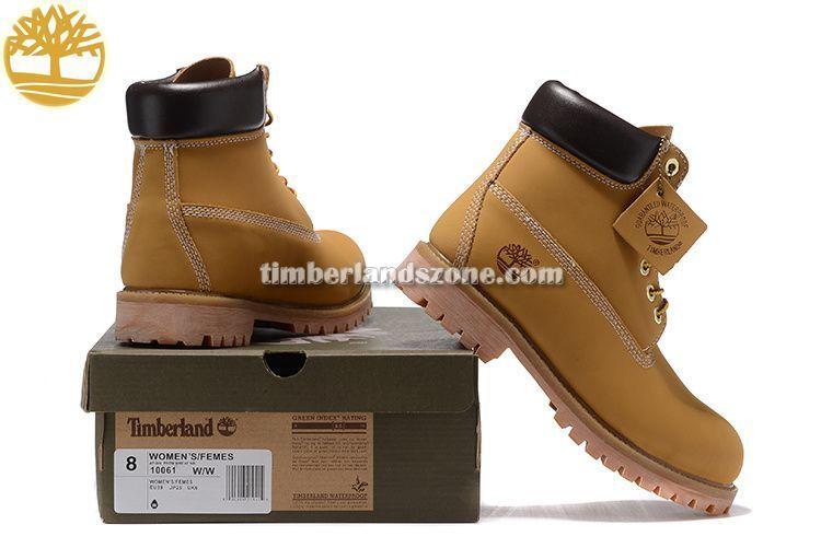 2017 New Timberland Men's Icon 6 Inch Premium Waterproof Boots Wheat Black $90.99