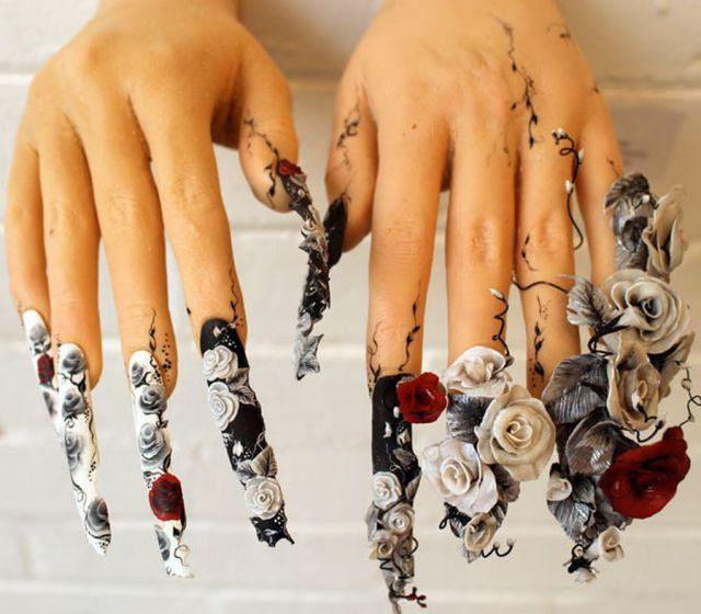 Daily Picdump 97 Pics Crazy Nail Art Crazy Nails Rose Nails