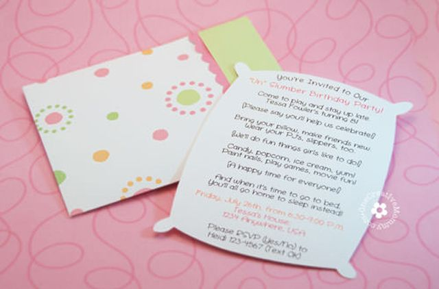 Customize a Free, Printable Slumber Party Invitation Slumber Party
