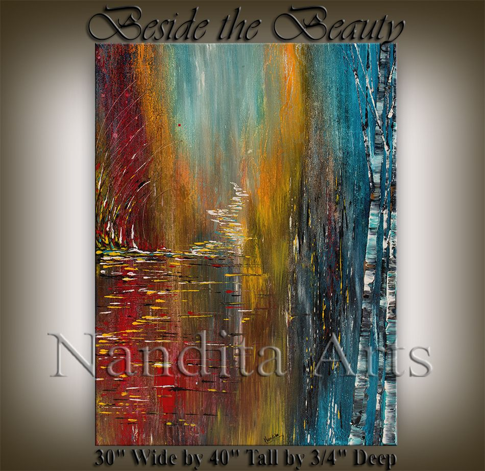 Looking for Beside the Beauty in abstract paintings or modern art? Check out our abstract modern oil paintings at Nandita Arts.