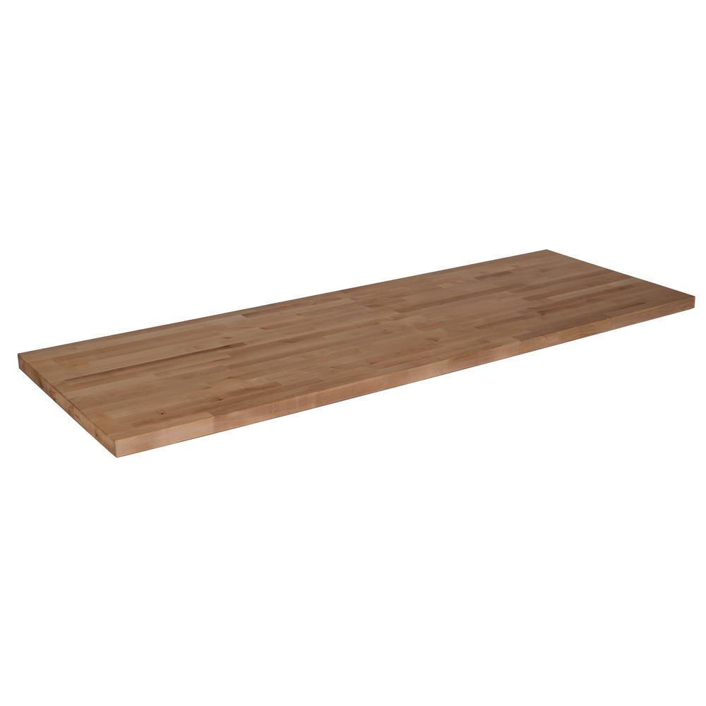 Hardwood Reflections 10 Ft L X 2 Ft 1 In D X 1 5 In T Butcher Block Countertop In Unfinished Birch 1525hdbbb 120 In 2020 Butcher Block Countertops Butcher Block Countertops
