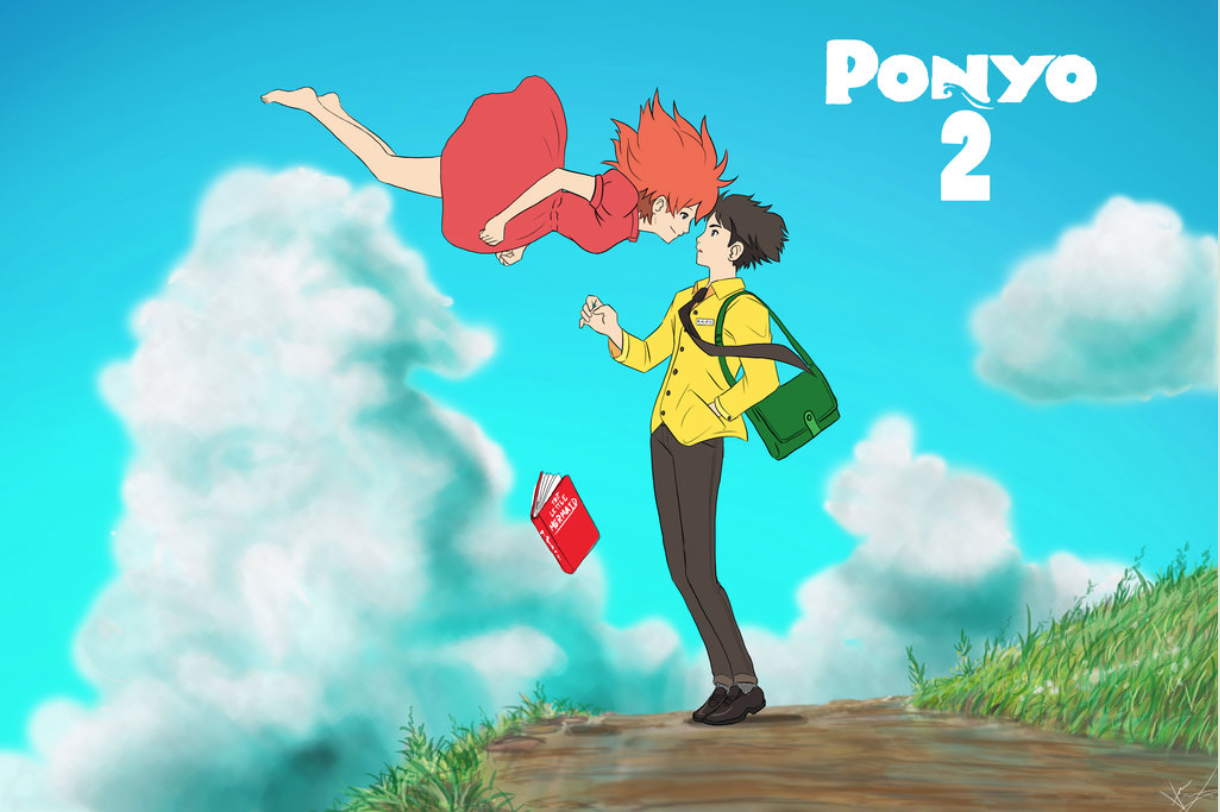 Ponyo and Sosuke older and grown up Studio ghibli