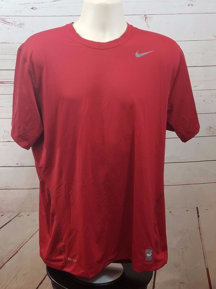 d4215223 Nike Pro Combat Dri-Fit Base Layer Shirt Red Men's XL Fitted #Nike  #BaseLayers
