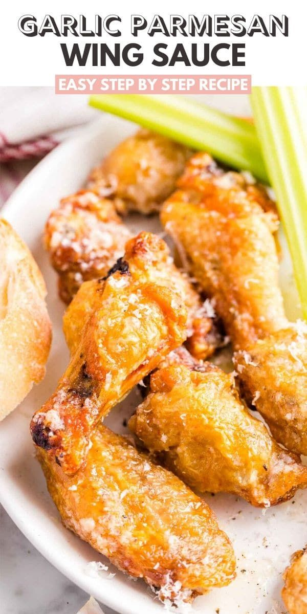 Garlic Parmesan Wing Sauce | Plated Cravings