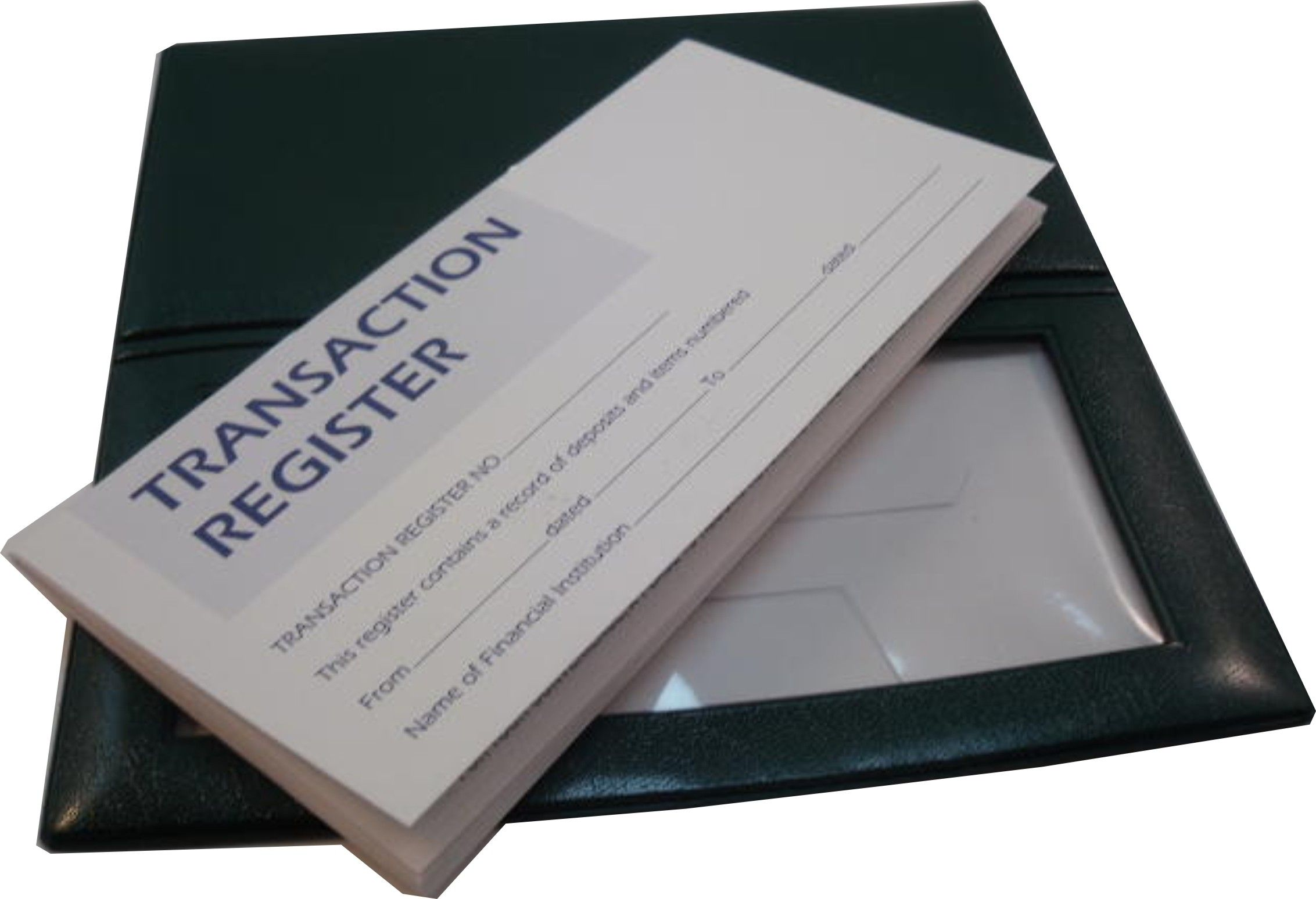 heavy vinyl checkbook cover with window for your photos comes with