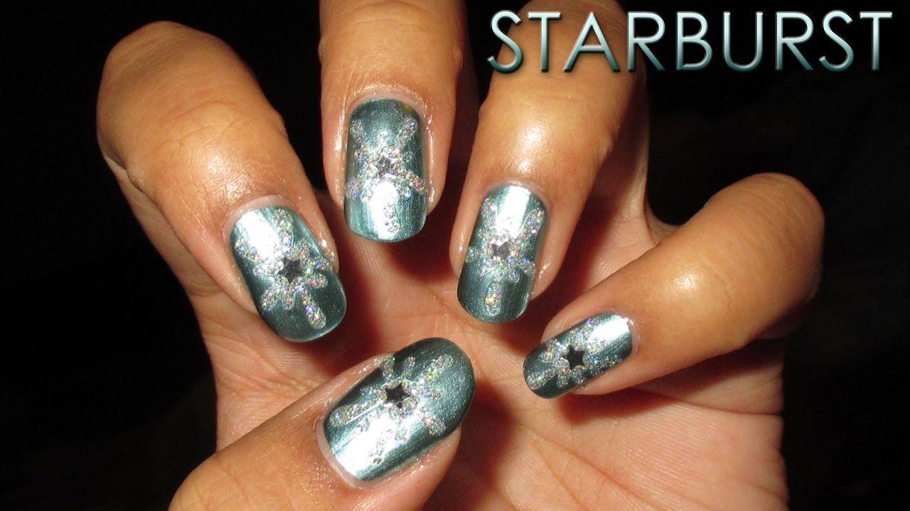 12 Days of Christmas | Starburst | DIY Nail Art Tutorial - YouTube ...