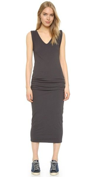 Clearance Inexpensive Discount Finishline James Perse Woman Cotton-terry Midi Dress Charcoal Size 2 James Perse o4lPX0O