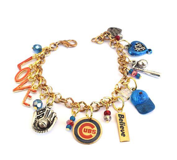 Chicago Cubs Baseball Bracelet I Love The