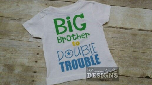 Double Trouble T-shirt Funny Hilarious Twin Twins Tee Shirt