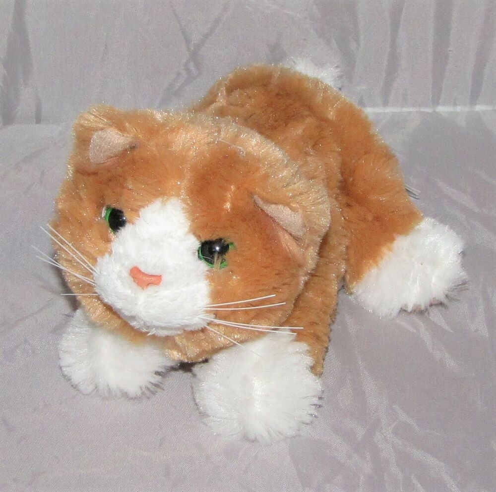 Hasbro Furreal Friends Kitten 2007 Cat Orange White Green Eyes Furreal 6 5 Hasbro Fur Real Friends Kitten Bear Toy
