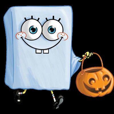 halloween spongebob ghost spongebob