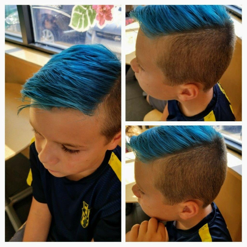 Boy hairstyle long on top boys haircut longer on top  on sides blue hair summer teen