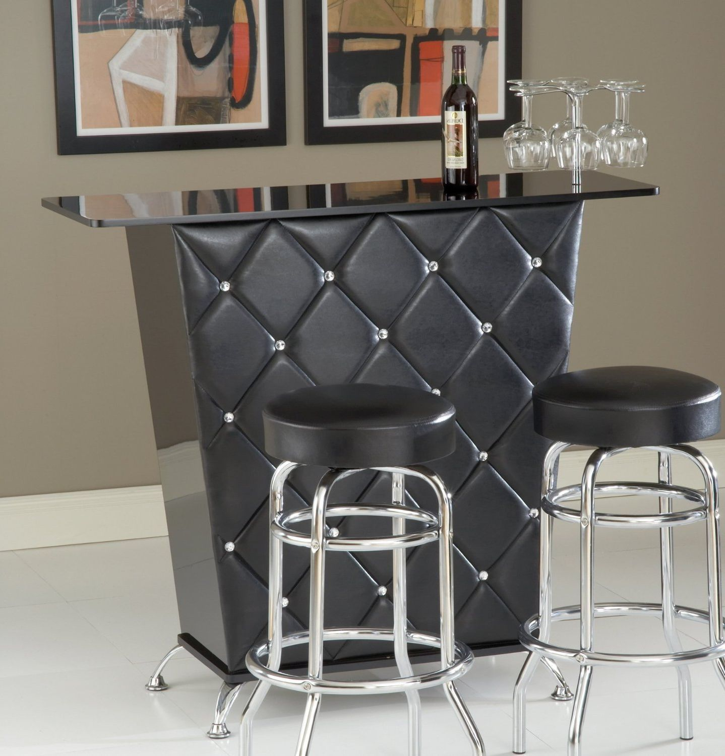 Portable mini bar furniture design ideas home bar chairs for Mini bar decorating ideas