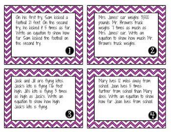 multiplicative comparison task cards education k 5 task cards guided math 4th grade math. Black Bedroom Furniture Sets. Home Design Ideas