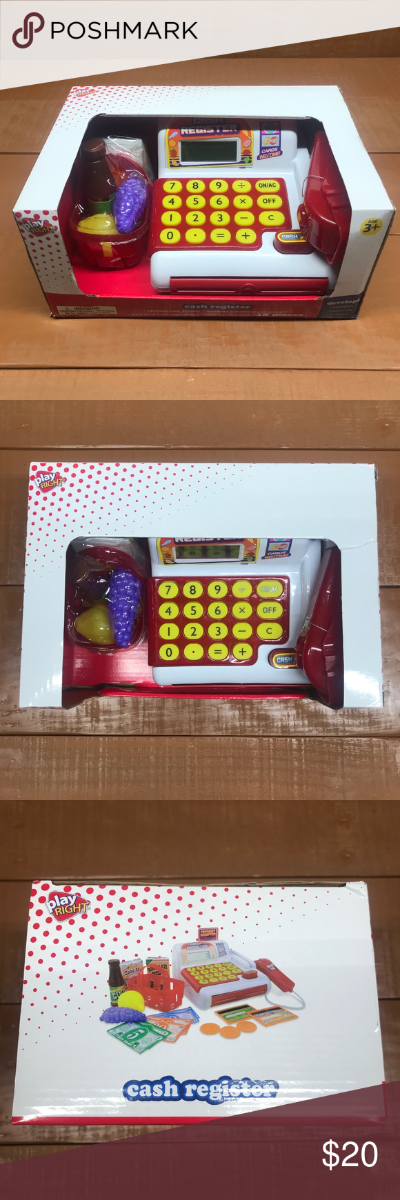 Kids Toy Cash Register New in box Electronic Toy Cash