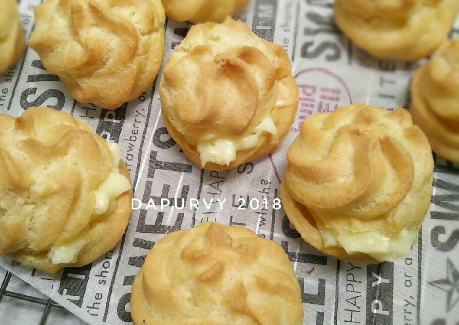 Resep Soes Vla Margarin Kokoh No Mixer Pr Soesbukansusi Oleh Dapurvy Resep Kue Camilan Kue Lezat Pudding Desserts