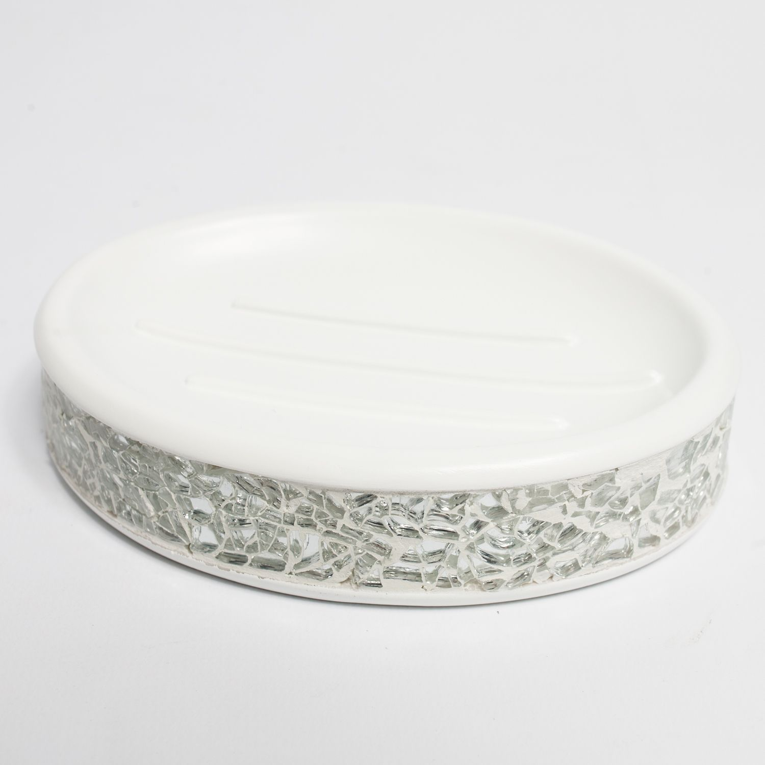 N Silver Cracked and Ivory Hand Crafted Bath Accessory Collection ...