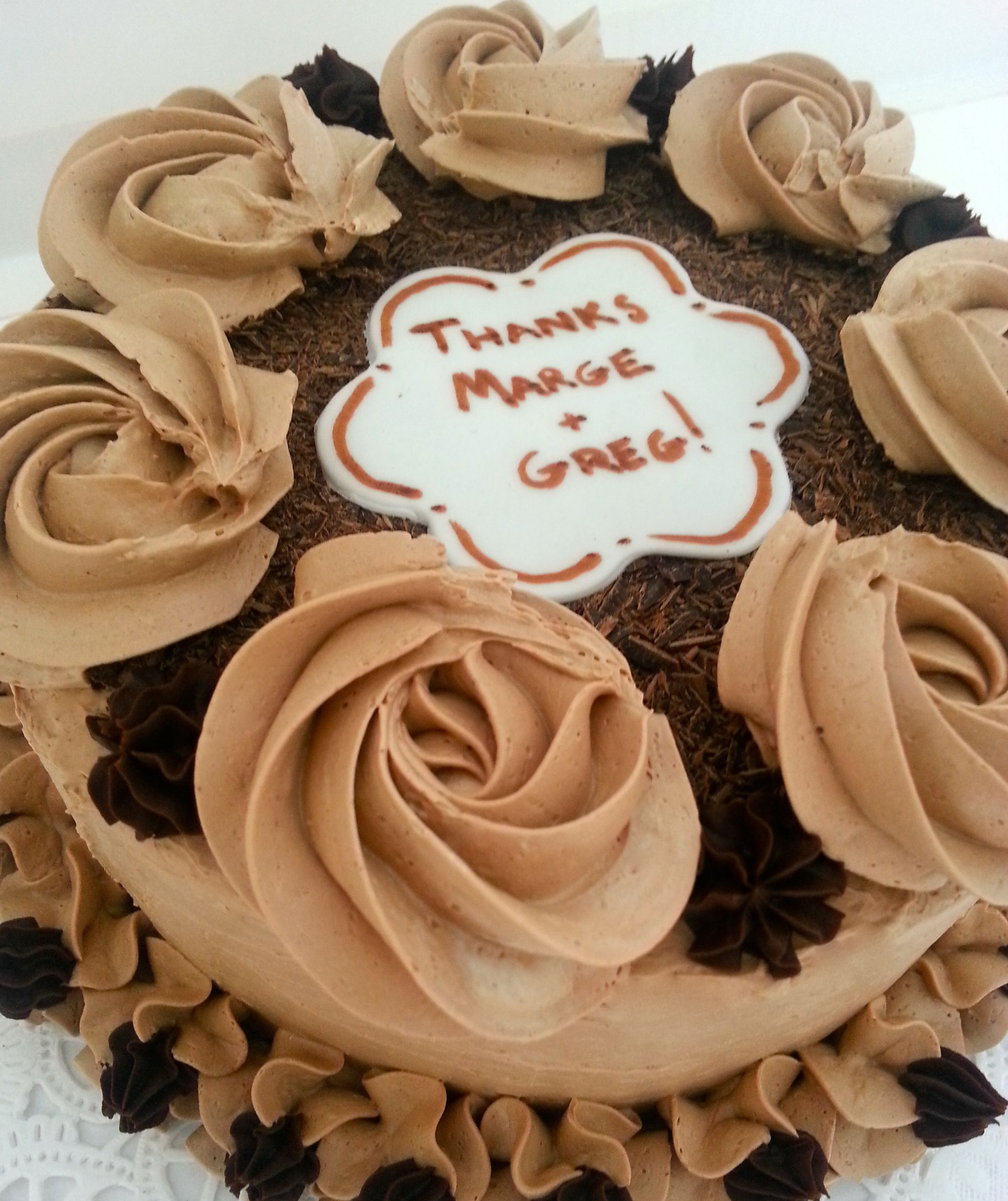 Thank You Cake Thank You Cake Buttercream Decorating Chocolate