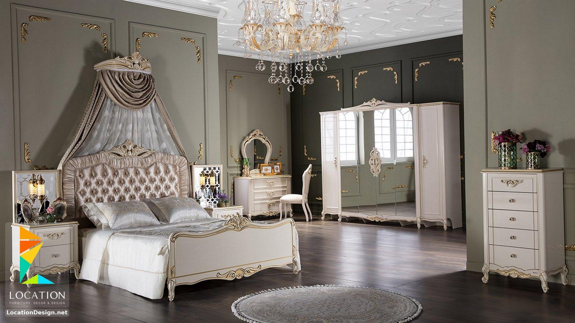 احدث موديلات و اشكال غرف نوم تركي 2019 2020 Luxury White Bedroom Furniture Bedroom Sets Bedroom Photos