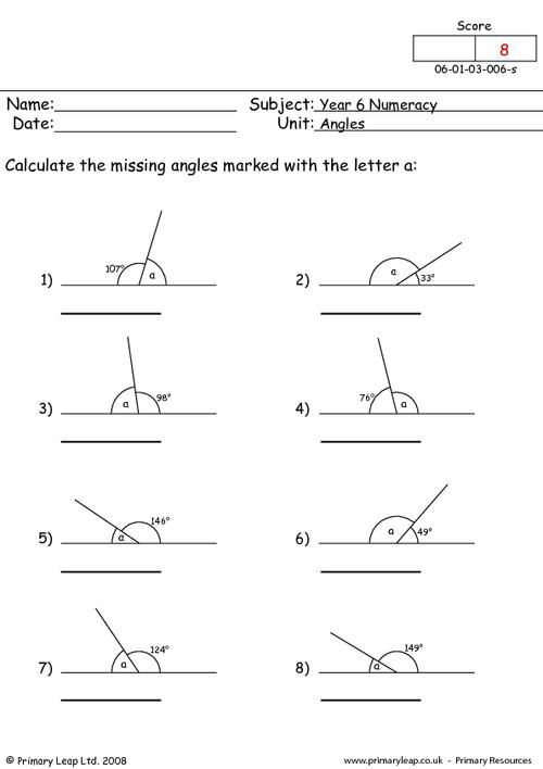 Primaryleap Angles 2 Worksheet Math 1 Pinterest Math