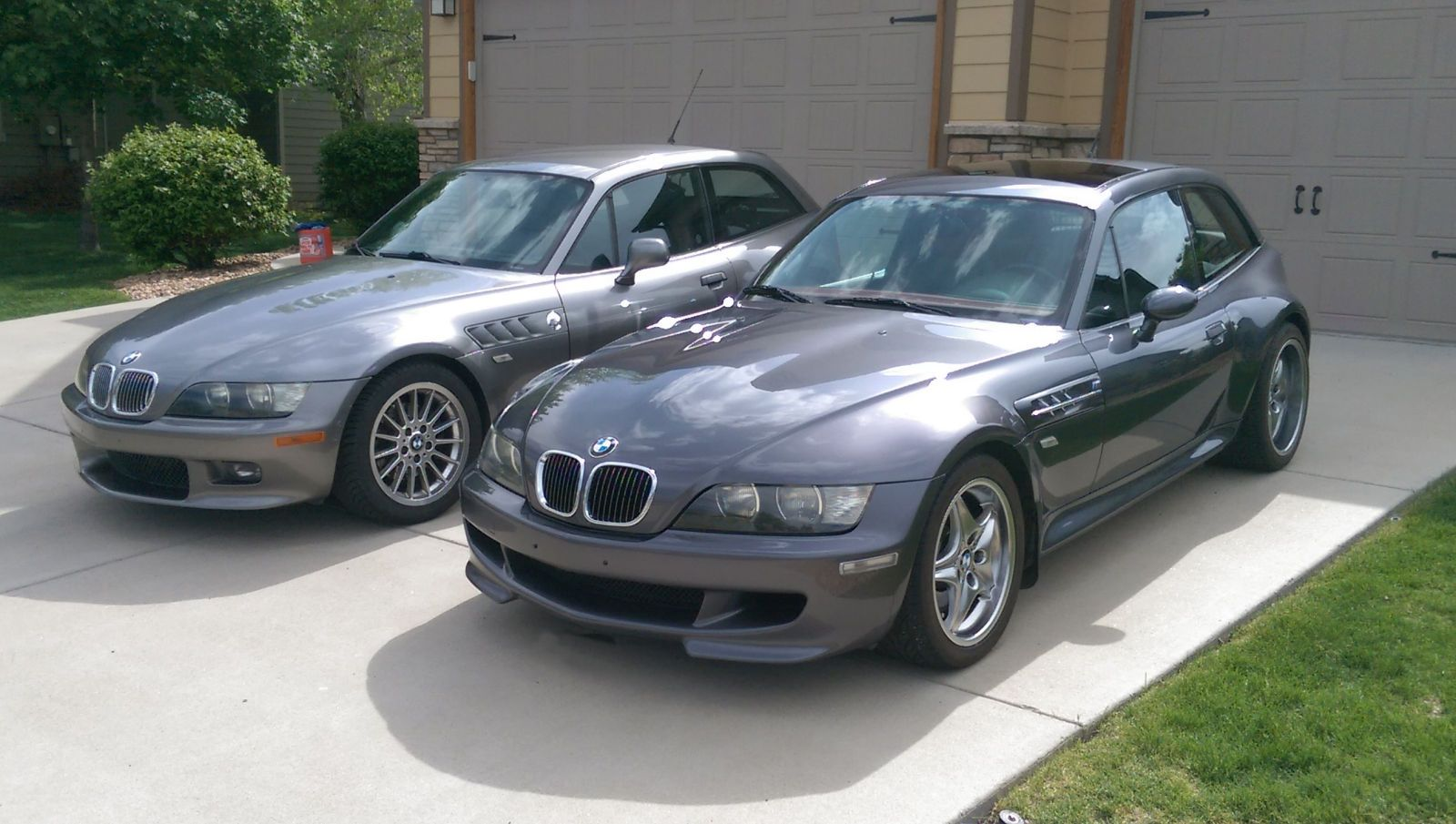 2001 Sterling Gray Over Black Z3 Coupe And 2002 Steel Gray Over