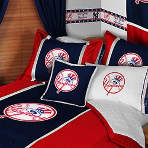 MLB New York City Yankees Comforter Pillow Case Baseball Bed Linen