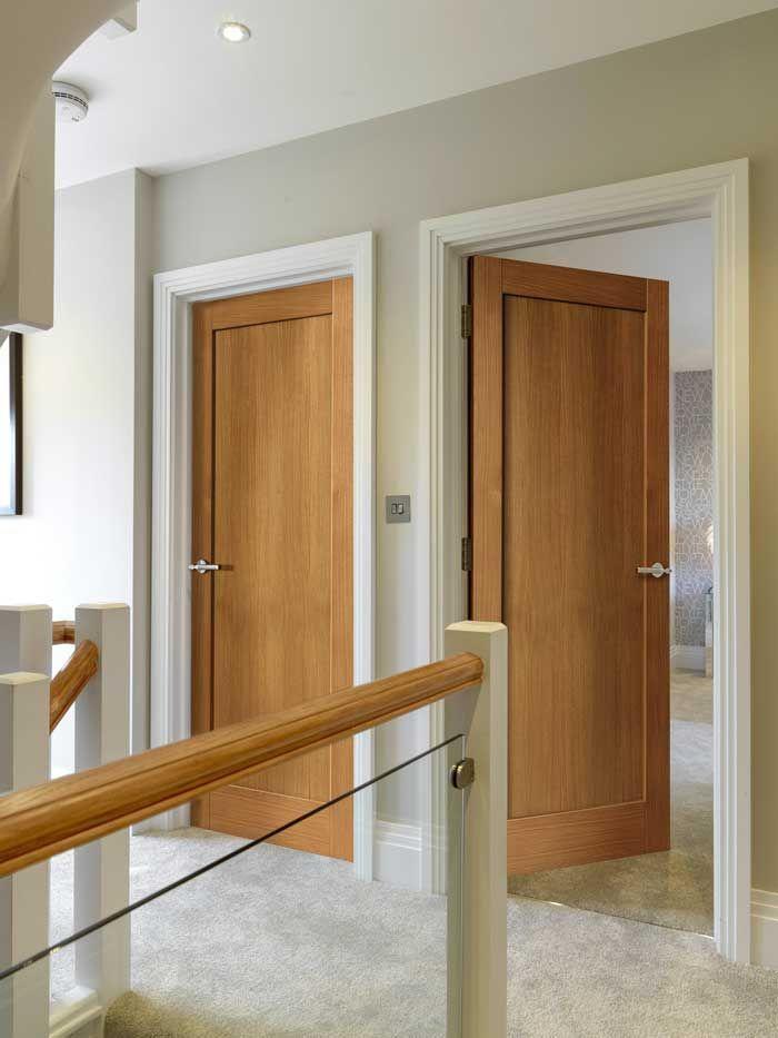 Etna Shaker Oak | Interior Barn Doors | Pinterest