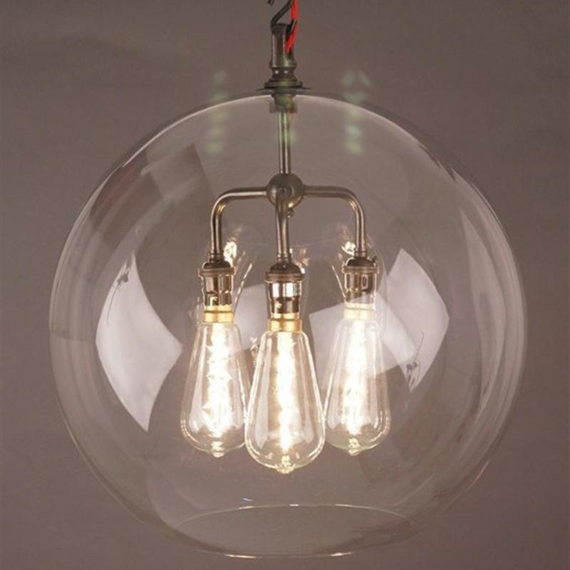 Xxl Designer 3 Light Lenham Clear Glass Globe Pendant Light Glass Globe Pendant Light Glass Globe Pendant Globe Pendant Light