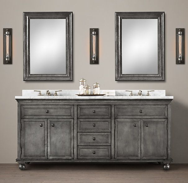Zinc Double Vanity Http://www.restorationhardware.com/catalog/product