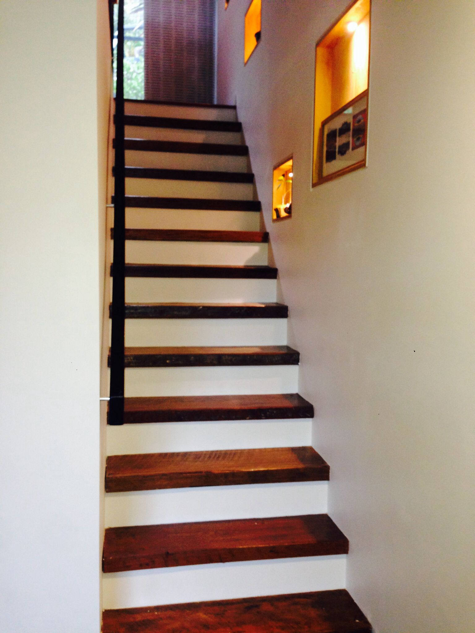 Recycled reclaimed timber stairs